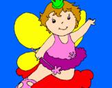 Disegno Fata  pitturato su Alice