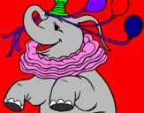 Disegno Elefante con 3 palloncini  pitturato su antonella