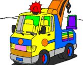 Disegno Gru  pitturato su camion
