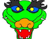 Disegno Drago pitturato su maschera daniele