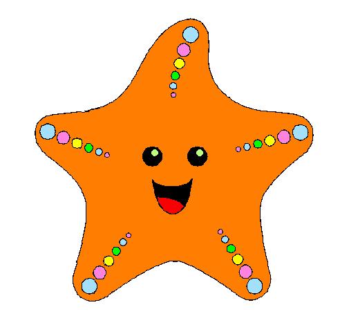 disegno stella di mare colorato da utente non registrato il 29 di ... - Disegno Stella Colorate