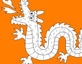 Disegno Drago sputa fuoco II pitturato su filippo