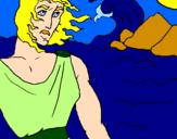 Disegno Ulisse pitturato su mary