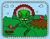 Disegno Quetz pitturato su QUETZ