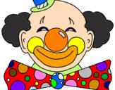 Disegno Pagliaccio con un enorme sorriso  pitturato su Pagliaccio