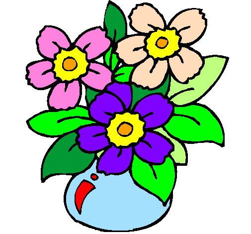 Disegno vaso di fiori colorato da utente non registrato il for Fiori stilizzati colorati