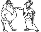 Disegno Giulio Cesare con un gallo  pitturato su Lupa