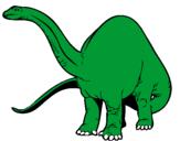Disegno Branchiosauro II pitturato su branchiosauro