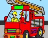 Disegno Camion dei Pompieri  pitturato su sam