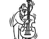 Disegno Violoncello  pitturato su violoncello