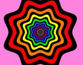 Disegno Mandala 46 pitturato su spider man