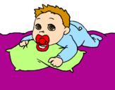 Disegno Bambino che gioca  pitturato su lucrezia winx