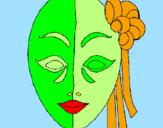 Disegno Maschera italiana  pitturato su florinda