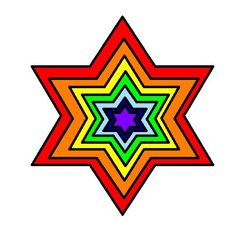 disegno stella 2 colorato da utente non registrato il 04 di maggio ... - Disegno Stella Colorate