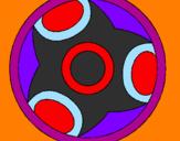 Disegno Mandala 12 pitturato su j gio
