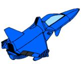 Disegno Nave razzo pitturato su la più veloce astronave