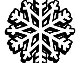 Disegno Fiocco di neve  pitturato su scoiattolo