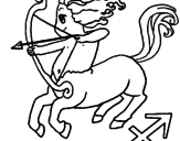 Disegno Sagittario pitturato su francesco  dieni