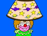 Disegno Pagliaccio lampada pitturato su CHIARA