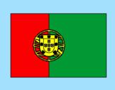 Disegno Portogallo pitturato su barbatrucco
