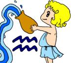 Disegno Acquario pitturato su Samara