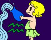 Disegno Acquario pitturato su Anastasia