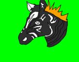 Disegno Zebra II pitturato su CRISTIAN