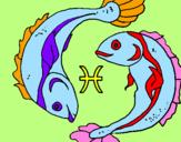 Disegno Pesci pitturato su Anastasia