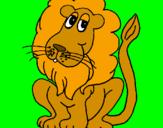 Disegno Leone pitturato su francesco pio