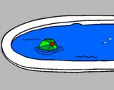Disegno Palla in piscina pitturato su Emma
