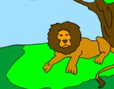 Disegno Il re leone pitturato su francesco pio