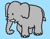 Disegno Elefante bebè  pitturato su  zairaa