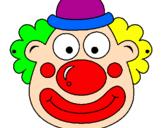 Disegno Pagliaccio pitturato su clown