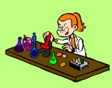 Disegno Tecnico di laboratorio  pitturato su Emma