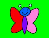 Disegno Farfalla 7 pitturato su martina canni