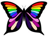 Disegno Farfalla 8 pitturato su mikaela