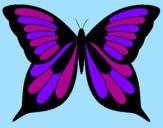 Disegno Farfalla 8 pitturato su juda