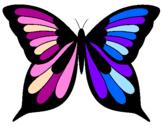 Disegno Farfalla 8 pitturato su Emma