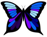 Disegno Farfalla 8 pitturato su chiara