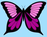 Disegno Farfalla 8 pitturato su lulu