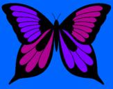 Disegno Farfalla 8 pitturato su faustina