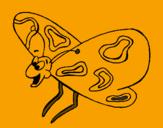Disegno Farfalla contenta  pitturato su AN<gelo