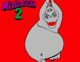 Disegno Madagascar 2 Gloria pitturato su lola