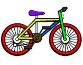 Disegno Bicicletta pitturato su EDO