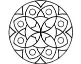 Disegno Mandala 13 pitturato su fiori 1