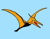 Disegno Pterodattilo  pitturato su Ale Piccolo e Ale Grande