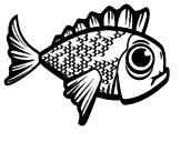Disegno Pesce 2 pitturato su uyhuyutytyhnmkmiu8jjmkk