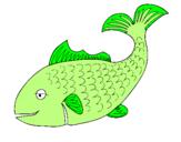 Disegno Pesce 3 pitturato su francesco