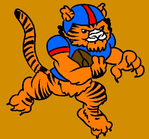 Disegno giocatore tigre colorato da utente non registrato for Disegni da colorare uomo tigre