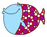 Disegno Pesce 4 pitturato su peppe